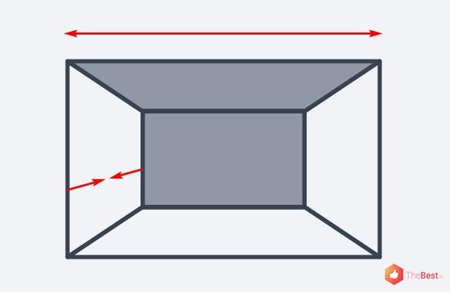 Ja vienā krāsā nokrāsot griestus un aizmugurējo sienu, tas telpu padarīs platāku, bet samazinās dziļumu